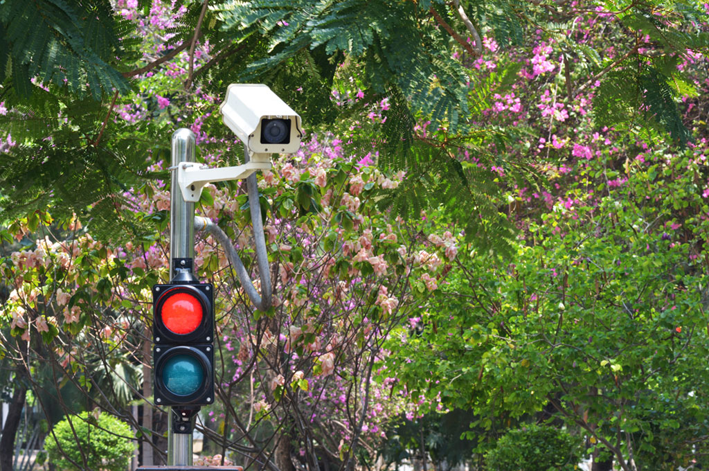 Image of a red light camera